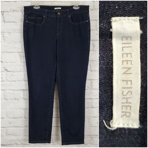 Eileen Fisher Jeans Dark Wash Stretch Skinny Ankle